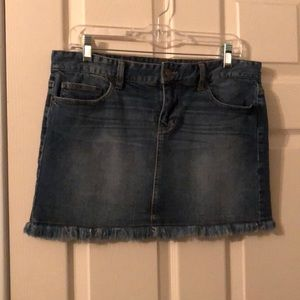 Calvin Klein Jeans Dark Wash Mini Skirt Size 29/8.